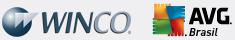 Logos Winco e AVG Brasil